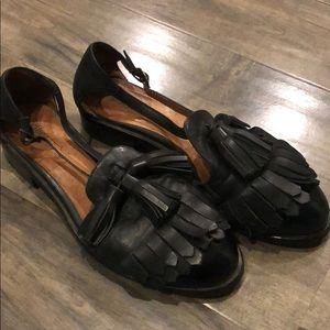 Jeffrey Campbell black leather flats